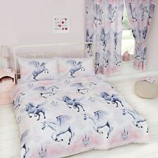 STARDUST UNICORN DOUBLE DUVET COVER SET NEW GIRLS PRINCESS BEDDING