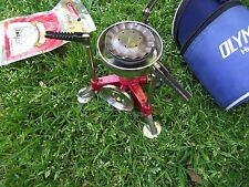 VINTAGE OLYMPUS ll high quality backpack camping stove + coleman lantern mantles