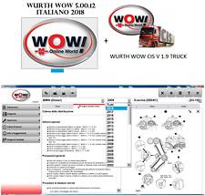 WURTH WOW 5.00.12 ITALIANO 2018 SOFTWARE DIAGNOSI AUTO + WURTH CIS 190 CAMION