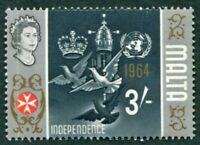 MALTA 1965-70 3s multicoloured SG345 mint MH FG Independence #W53