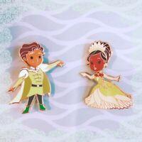 Disney Tiana and Naveen Chibi Fantasy 2-Pin set; Princess and the Frog, Prince