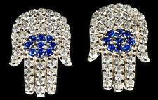 HAMSA EARRINGS - EVIL EYE - Cubic Zirconia CZ Crystals - Charm Luck Protection