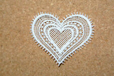 Lace motif - Wedding/Valentine - Heart - applique/sew on trim/craft/card making