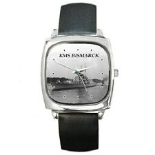 KMS BISMARCK WW2 GERMAN BATTLESHIP SQUARE WRISTWATCH **NEW ITEM**