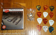 AXL ELECTRIC GUITAR STRINGS MEDIUM, PICKS & PICK HOLDER PACKAGE KIT PARTS MUSIC