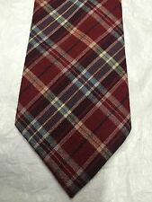 FLYING SCOTSMAN MEN'S TIE MAROON WITH COLORFUL DESIGN 57 x 3