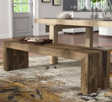 Kitchen Table Bench Dining Rustic Wood Farmhouse Bed End Stool Entryway Solid