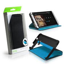 GENUINE HTC One M7 Double Dip Flip Case Cover Black / Blue - HC V841