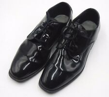 """AFTER SIX """"RADIO CITY"""" PATENT LEATHER TUXEDO OXFORD DRESS SHOES ~ SIZE 9.5 W"""