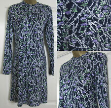 NEW M&S Marks & Spencer Ladies Floral Print Jersey Swing Tea Shift Dress 6-20