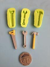 set of 3 tools silicone mould - spanner, saw & hammer - cake decorating, fimo