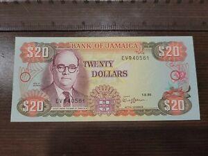 🇯🇲 Jamaica 20 Dollars 1989  UNC  P-72c  Banknote 082821-18