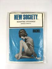 fe1cbc6eb0f Vintage 1960 s Stockings Rachel by New Society Sun Glow Seamfree 8.5-9