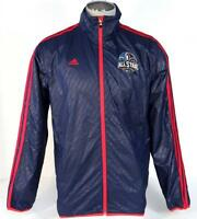 Adidas NBA All Star New Orleans 2014 Blue Zip Front Wind Track Jacket Men's NWT