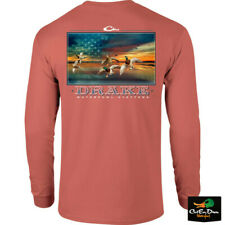 NEW DRAKE WATERFOWL SYSTEMS AMERICAS CUP LOGO L/S T-SHIRT TEE