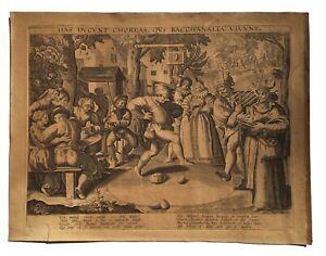 Martin de VOS (1532-1602), Jean GALLE ( 1600-1675) - La danse des oeufs