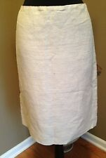 Alberta Ferretti Linen Skirt Size L