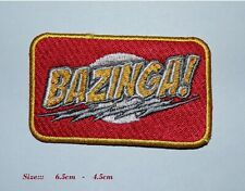 More details for bazinga! iron / sew on patch embroidered badge