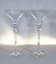 FOSTORIA .. PAIR OF CRYSTAL TWISTED STEM CANDLE HOLDERS