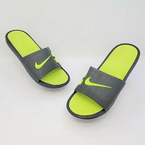 Nike Mens Benassi Solarsoft Anthracite Volt Slides Sandals Size US 10 431884-070