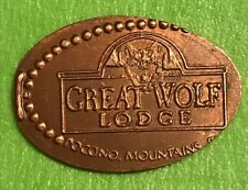 Great Wolf Lodge Pocono Mountains Pressed Elongated Penny Retired Copper