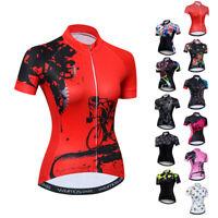 Cycling Jersey Women Bicycle Team Short Sleeve Bike T-Shirt Clothing Sport Tops