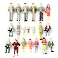 20pcs 1:25 G Scale Train Railroad Passenger Model Painted People Figures Layout