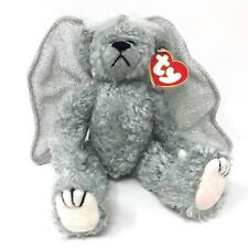 "1993 Ty Attic Treasures Plush Sterling Gray Angel Bear Silver Wings 9"" Retired"