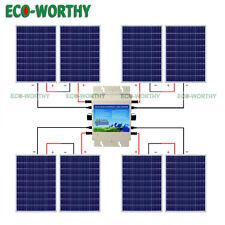 800W 24V Grid Tie Kit :8*100W Solar Panel w/ 1200W Inverter for 110V Home Power