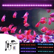 UK/EU/US Aquarium RGB LED Lighting Fish Tank Light Lamp Waterproof Multicolour