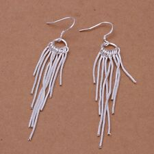 925 Sterling Silver Drop Dangle Chandelier Hook Earrings L15