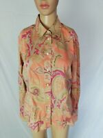 ETRO MILANO Camicia CASUAL a STAMPA Shirt Chemise Hemd Tg 46 Donna
