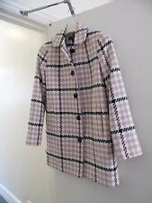 Miss Selfridge (BNWOT) size:10 pink/multi check design, woven, button up coat