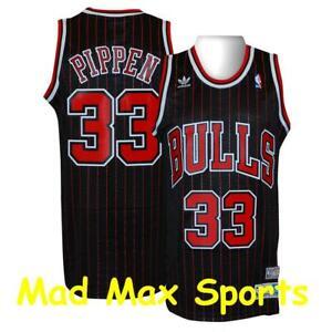 SCOTTIE PIPPEN Chicago BULLS Adidas Black NBA Hardwood CLASSICS Swingman Jersey