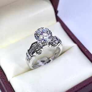 0.50 ct Diamond Semi Mount Engagement Ring in 18k White Gold