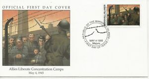 50th Ann WWII Comm/FDC - Marshall Isles - Allies Liberate Con Camp - 1995(1207)Z