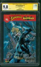 Superman Batman 4 CGC 2XSS 9.8 French Ed Jim Lee Williams Sign Panini 5/08