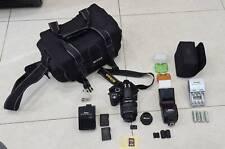 NIKON D3100 DSLR Camera Lens SPEEDLIGHT SB-700 FLASH batteries chargr