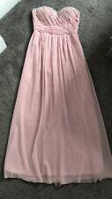 Quiz Prom Dress/Ballgown Size 14 Pink Silver  Stretch Strapless Jewels