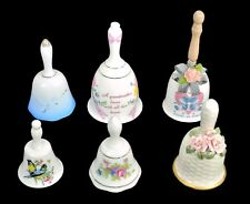 Six Bells Porcelain Ceramic Floral Birds and More