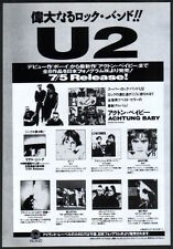 1992 U2 Achtung Baby Japan album release promo print ad / press advert u09r