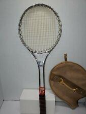 "WILSON Metal Tennis Racket Racquet Medium 4 1/2"" Grip"