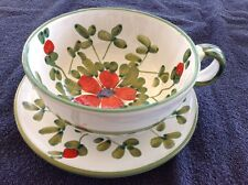 Ceramic soup bowl cup and under plate set