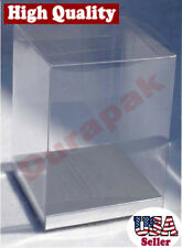 """24~ 7x7x9"""" Clear Plastic PVC Box Party Favor Gift Packing w/ Silver Card Bottom"""