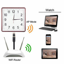 WIFI 1080P HD Alarm Clock Spy IP Camera Motion DVR Digital Video Record
