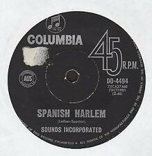 """Sounds Incorporated - Spanish Harlem / Rinky Dink - 7"""" single 45rpm"""