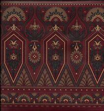 Victorian Architectural Trim on Burgundy WALLPAPER BORDER