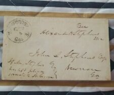 New listing Rare Alexander H Stephens Free Frank Vice President of the Confederate States