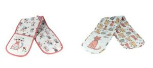 Oven Gloves Double Heat Resistant Cat Themed Kitchen Gift Cooks Bakers Cat Lover
