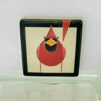 Motawi TileWorks- Cardinal- Red and Fed Charley Harper- Polychrome Art Tile- 4x4